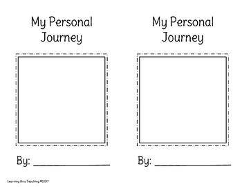 My Personal Journey book (half page version)