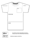 My Personali-tee tshirt template (preschool and kindergarten)