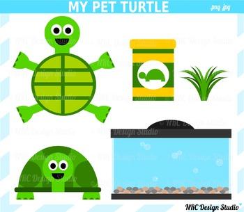 My Pet Turtle Clip Art