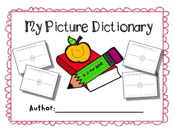 My Picture Dictionary {Free} Alphabet Writing & Spelling -