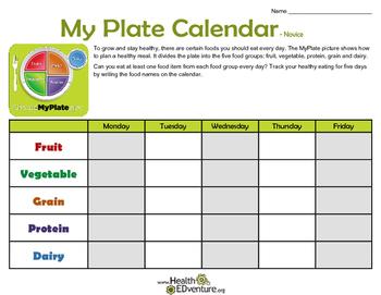 My Plate Calendar