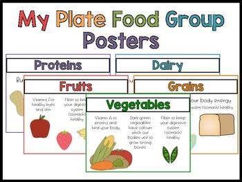 My Plate Food Group Posters Freebie