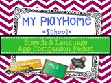 My PlayHome School App Speech Language Therapy Companion Packet