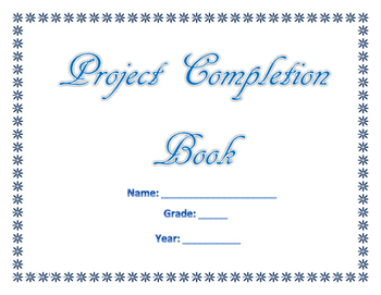 My Project Completion Book (Blue Words) (Religious)