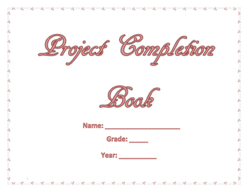 My Project Completion Book (Pink Words) (Secular)