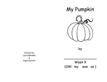 My Pumpkin Sight Word Book - Week 9
