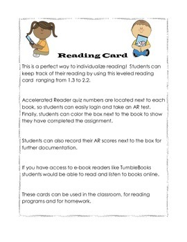 My Accelerated Reading Card