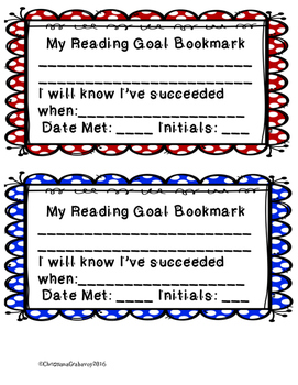 My Reading Goal Bookmark (FREE)