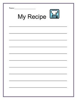 My Recipe-Writing Template