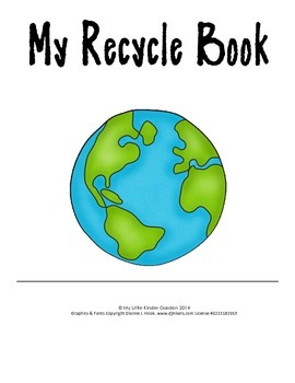 My Recycle Book-cans, glass, paper, plastic, Differentiate