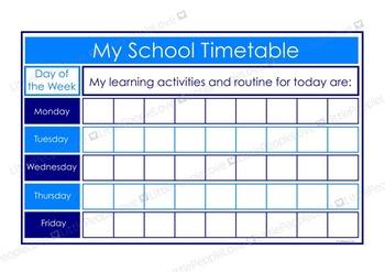 My School Timetable - Blue/Light Blue