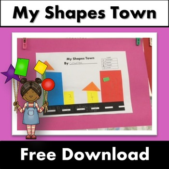 My Shapes Town Free Download - Maths Shapes Activity Count