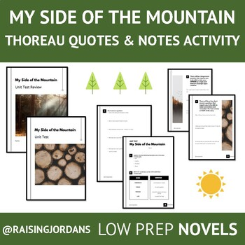 My Side of the Mountain Unit Test