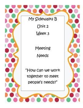 My Sidewalks B, Unit 2, Week 3 Resource Pack