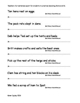 My Sidewalks Level B Unit 1 Week 4 Fluency Sentences