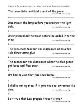 My Sidewalks Level B Unit 6 Week 2 Fluency Sentences