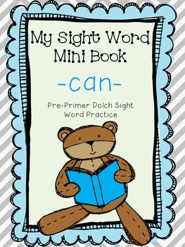 My Sight Word Book - CAN