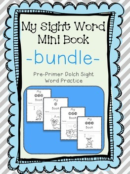 My Sight Word Book - GROWING BUNDLE