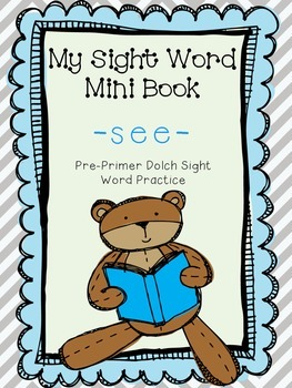 My Sight Word Book - SEE