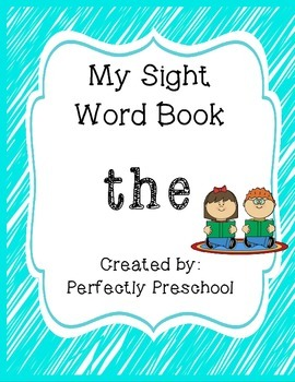 My Sight Word Book: the