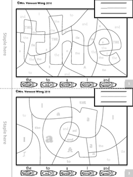 My Sight Words Coloring Book-Pre-primer level-full version