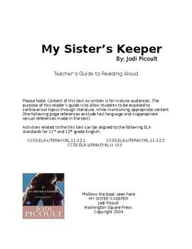 My Sister's Keeper- Teacher's Read Aloud Guide