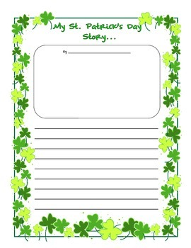 My St. Patrick's Day Story Writing Prompt Upper Elementary