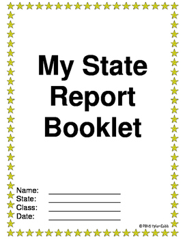 My State Report Booklet