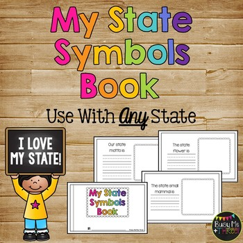 My State Symbols Book -- Works with ALL States within the