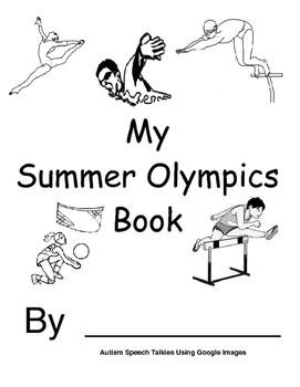 My Summer Olympics Action Book (BW Printable) Autism, Spee