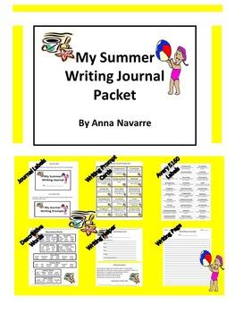 My Summer Writing Journal Packet