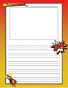 My Super Powers Super Hero Writing Pack