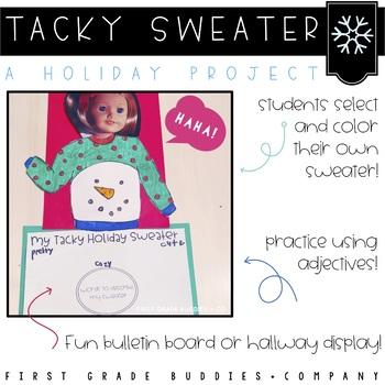 My Tacky Holiday Sweater: An Adjective Craftivity