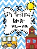 My Teaching Binder! By The 2 Teaching Divas