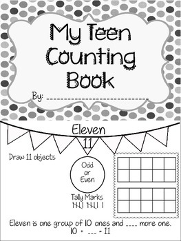 Teen Numbers Book