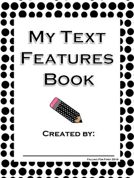 My Text Features Class or Individual Book