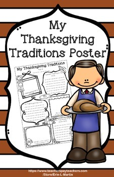 My Thanksgiving Traditions Poster
