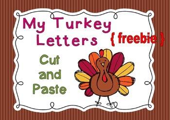 My Turkey Letters - { freebie }