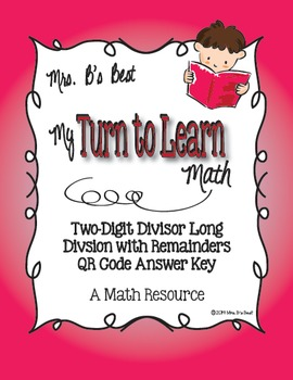 My Turn to Learn QR Code Task Cards: Two-Digit Long Divisi