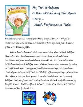 My Two Holidays: A Hanukkah & Christmas Story - Math / Wri