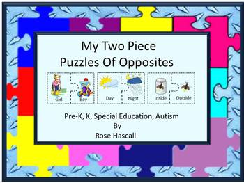 Sorting Two piece puzzles of Opposites