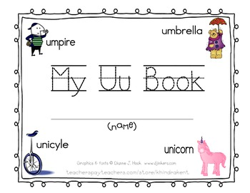 My Uu Book {letter study / sight word has}