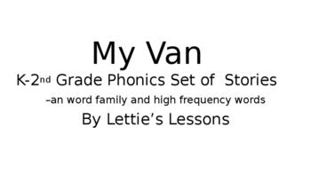 My Van  Phonics Reader Set Kindergarten through Second Gra