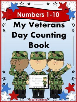 My Veterans Day Interactive Counting Book (Multiple Repres