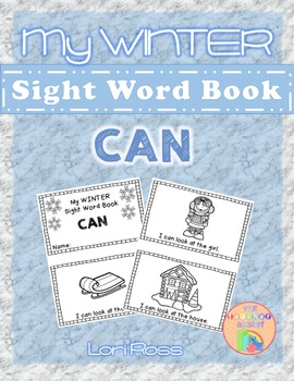 My WINTER Sight Words Book: CAN