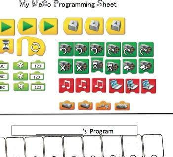 My WeDo Programming Sheet