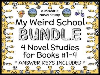 My Weird School BUNDLE (Dan Gutman) 4 Novel Studies : Book