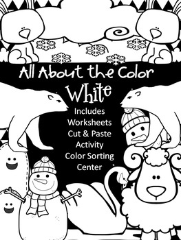 Color Books;White; Includes Worksheets,Cut/Paste Activity,
