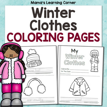 My Winter Clothes Coloring Pages