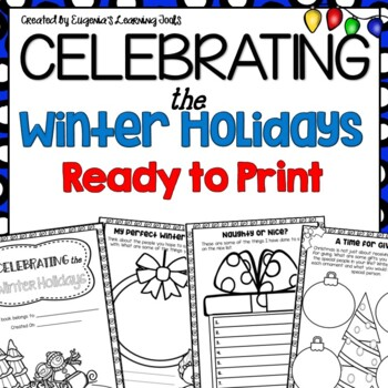 Christmas Activities Winter Holidays Memory Book